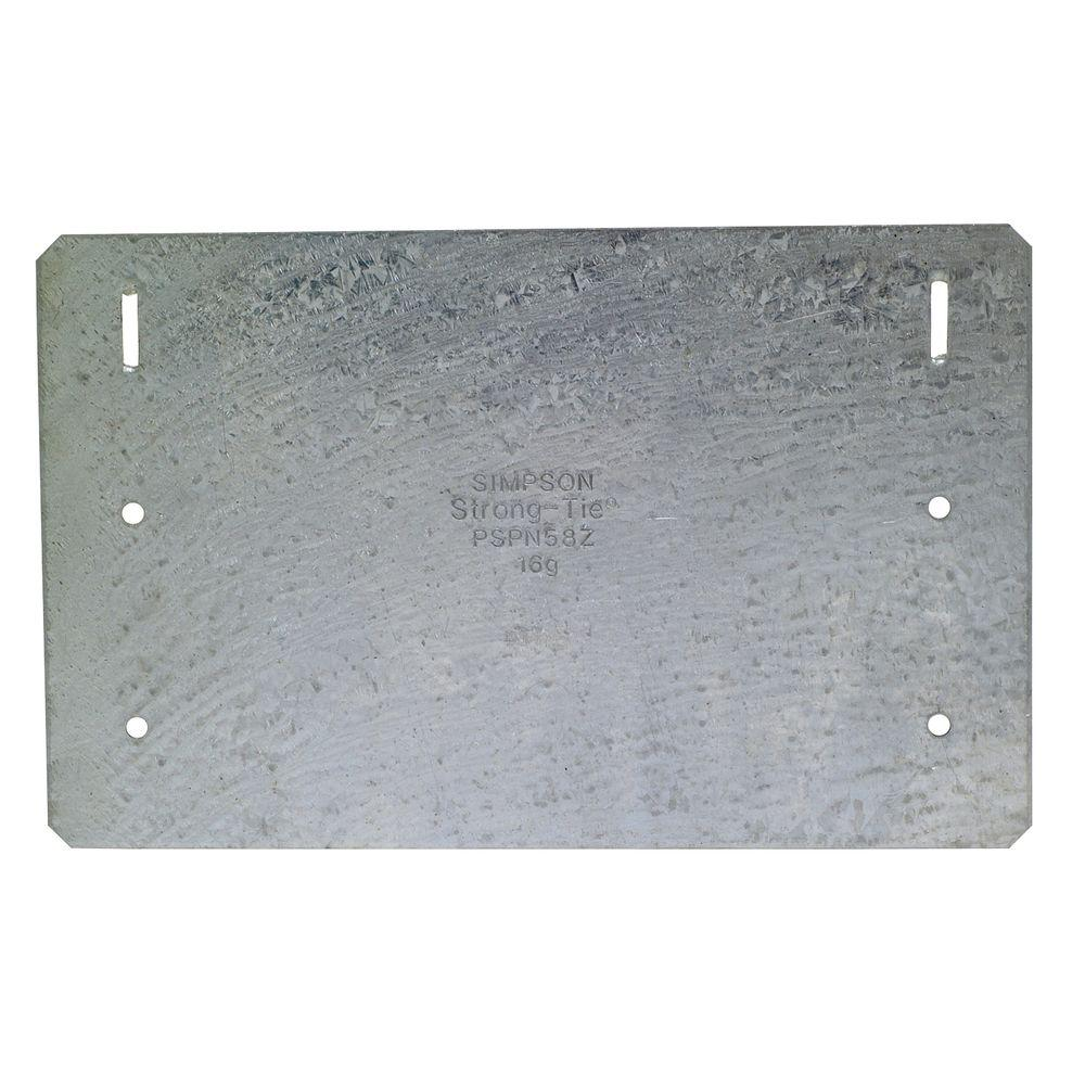ZMAX Galvanized 5 in. x 8 in. 16-Gauge Protecting Shield Plate Nail Stopper