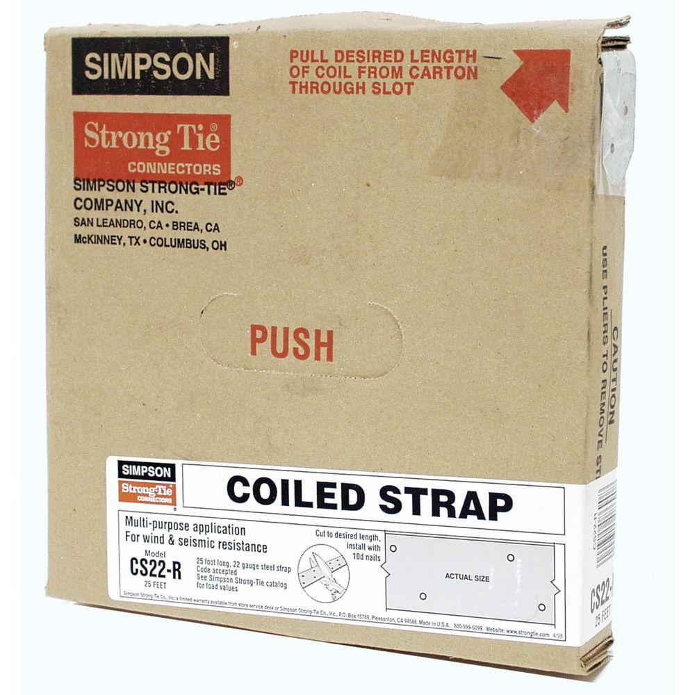 25 ft. 22-Gauge Coiled Strap