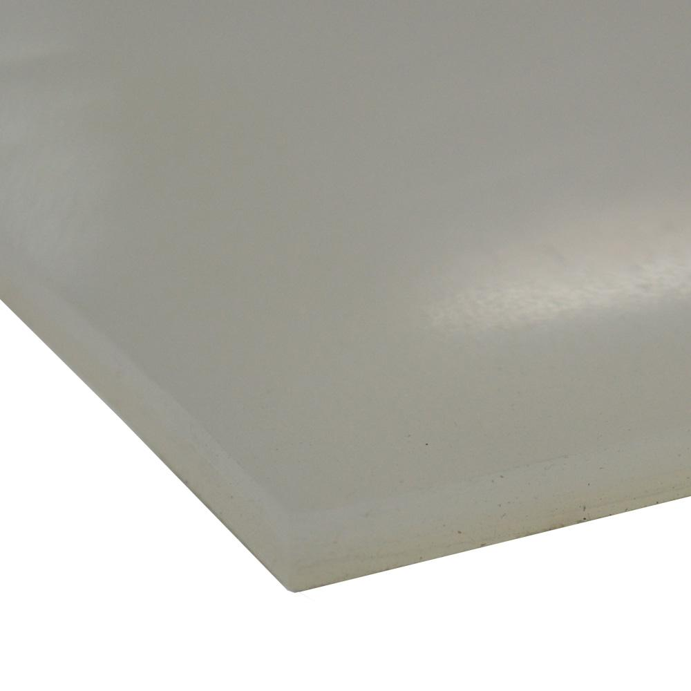 Silicone 1/8 in. x 6 in. x 12 in. Translucent Commercial Grade Translucent 60A Rubber Sheet
