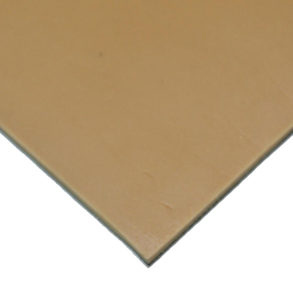 Pure Gum Rubber 3/16 in. x 36 in. x 168 in. Tan Commerical Grade 40A Rubber Sheet
