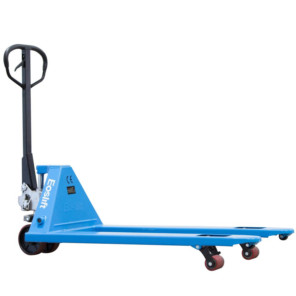 M30 Heavy Duty 6,600 lbs. Wt. Cap, 27 in. x 48 in. Manual Pallet Truck German Seal System with Polyurethane Wheels