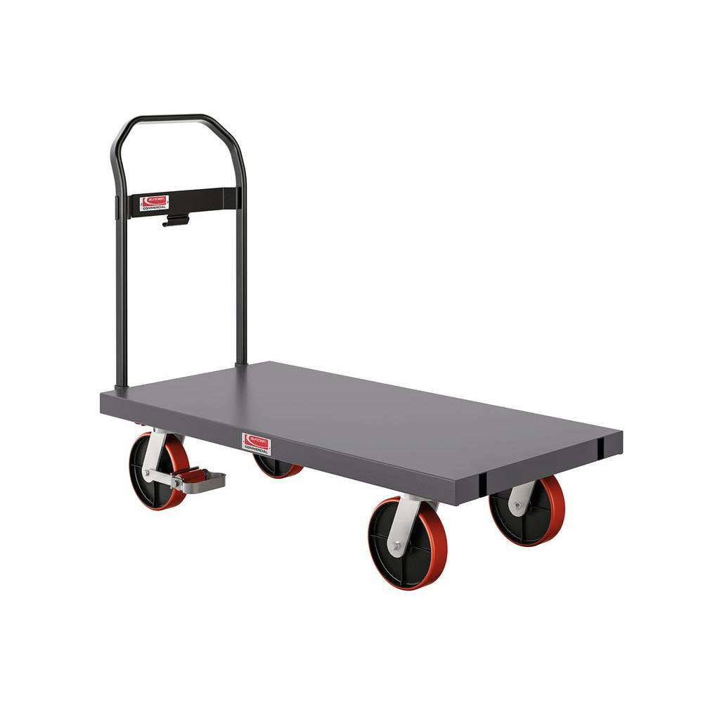 2000 lb. Capacity 24 in. x 48 in. Heavy-Duty Metal Platform Truck