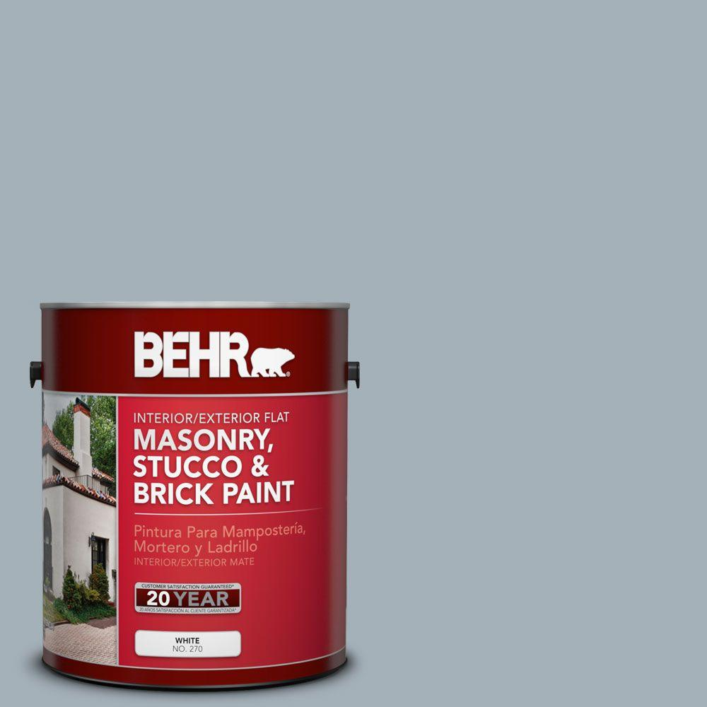 1 gal. #MS-72 Biscayne Bay Flat Interior/Exterior Masonry, Stucco and Brick Paint
