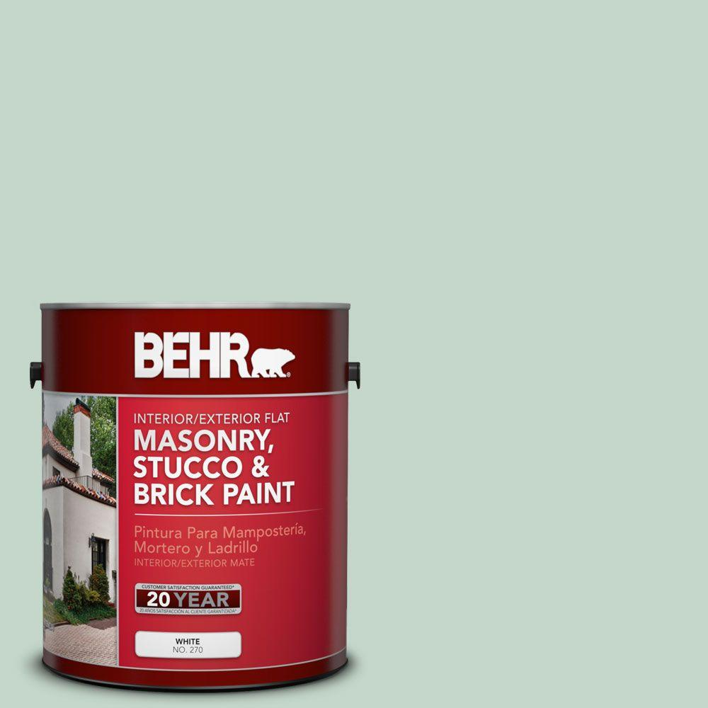 1-gal. #MS-64 Mesa Verde Flat Interior/Exterior Masonry, Stucco and Brick Paint