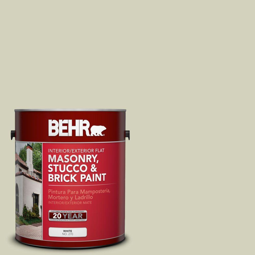 1-gal. #MS-56 Amazon Mist Flat Interior/Exterior Masonry, Stucco and Brick Paint