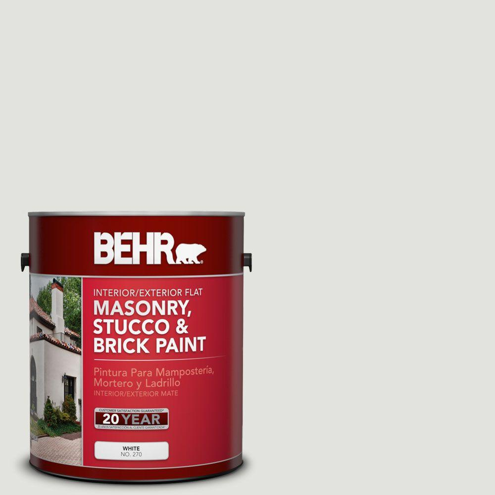 1 gal. #MS-55 Arctic Gray Flat Interior/Exterior Masonry, Stucco and Brick Paint